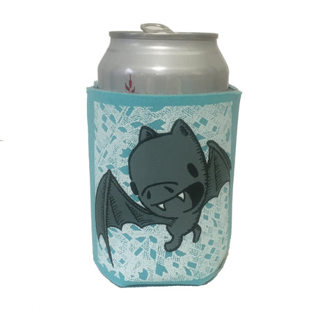bat can coolie (gray/robins egg blue)