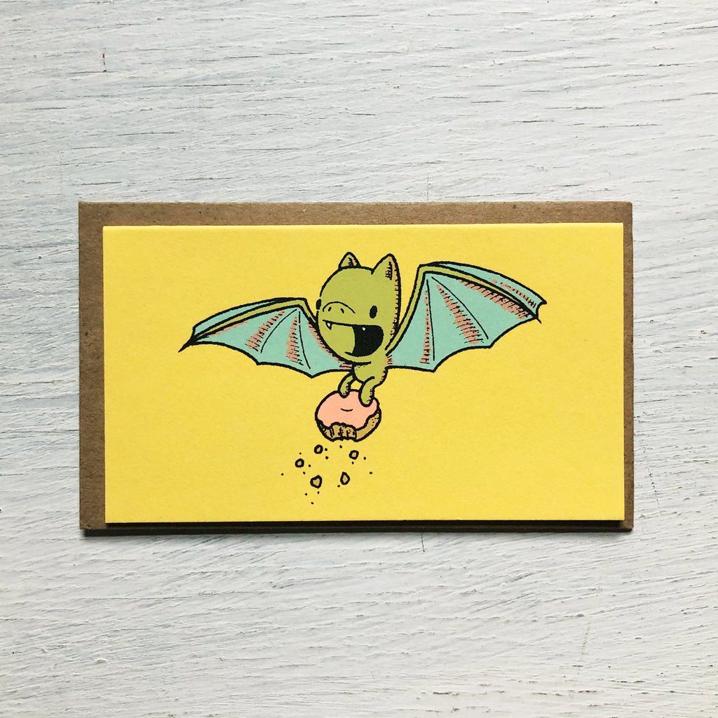 bat donut mini card