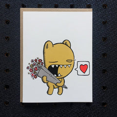 bear valentine, cute valentine card