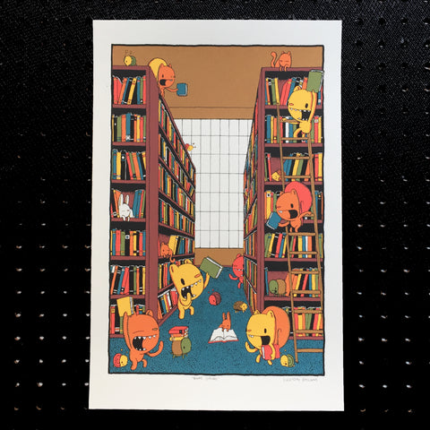books galore screen print - 2nd edition (11x17)