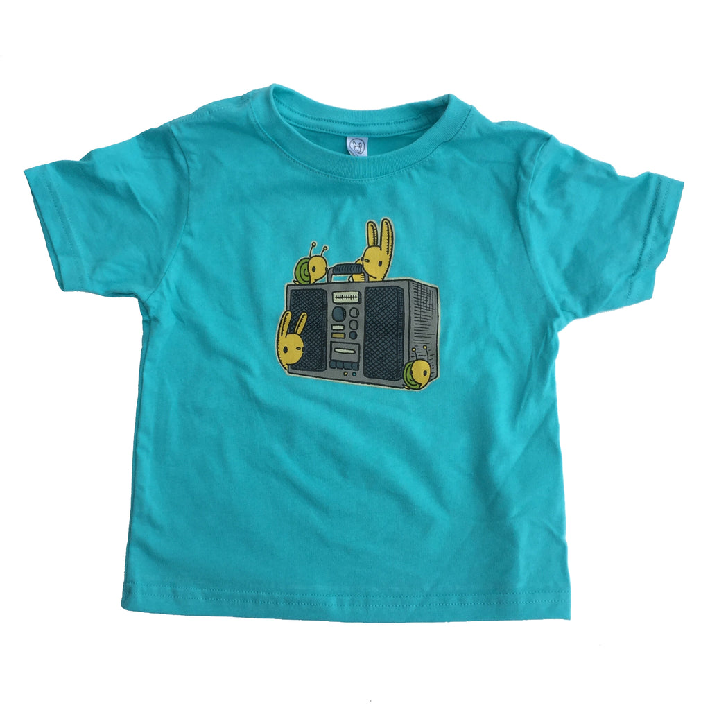 boombox buddies kids t-shirt