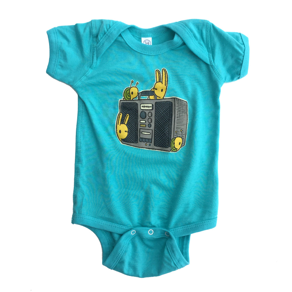 boombox buddies one piece bodysuit