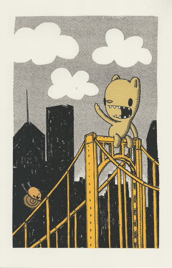 bridge buddies screen print (2nd edition) (11x17)