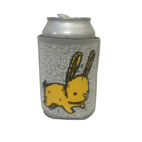 bunny can coolie (gray/yellow)
