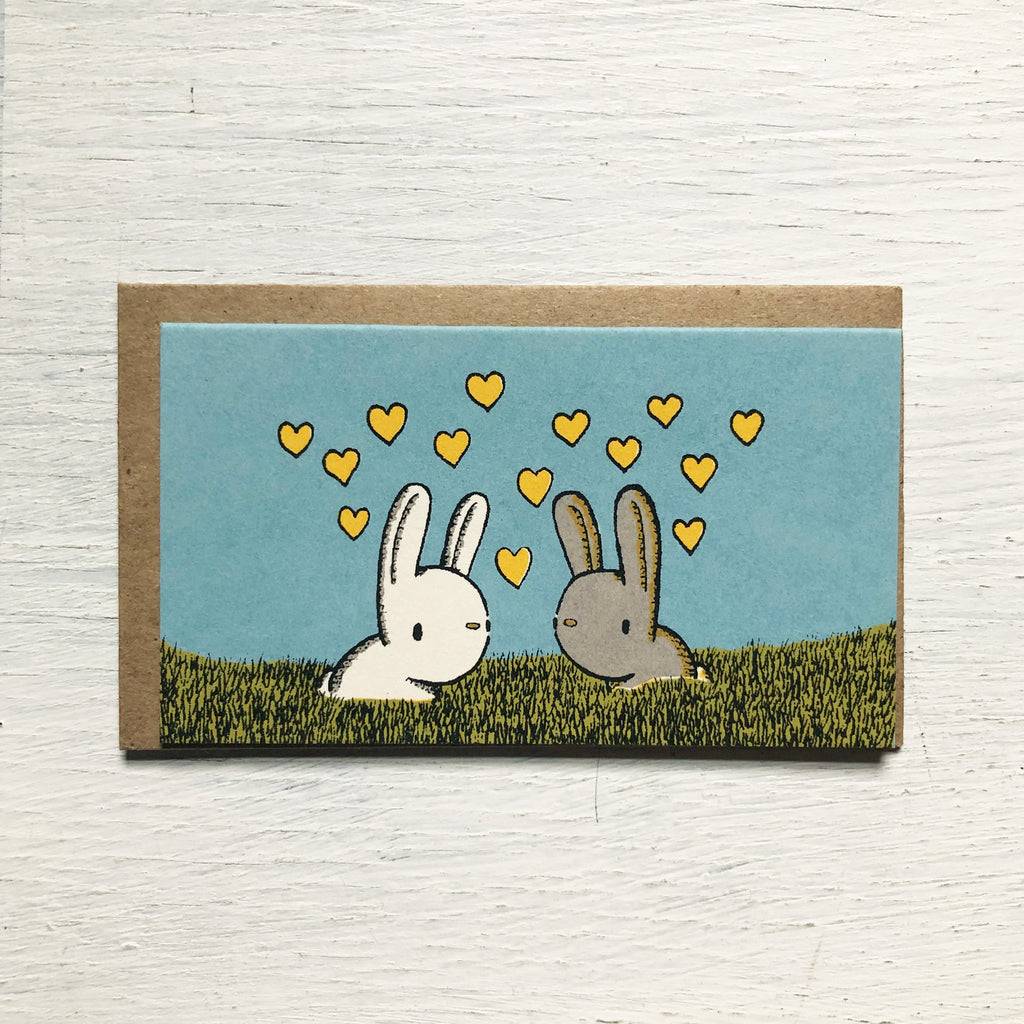 bunny love mini card