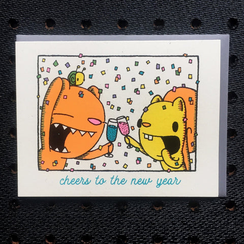 cheers new years card holiday card