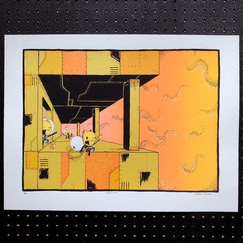 cloud city screen print (18x24)