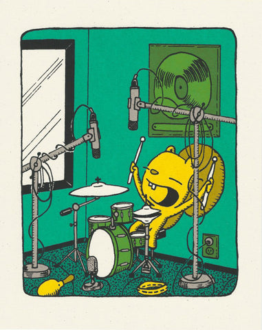 the beat - drum screen print
