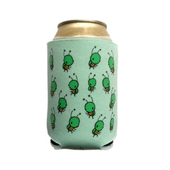 green bug can coolie, green bug koozie
