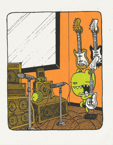 the rhythm - guitar - screen print