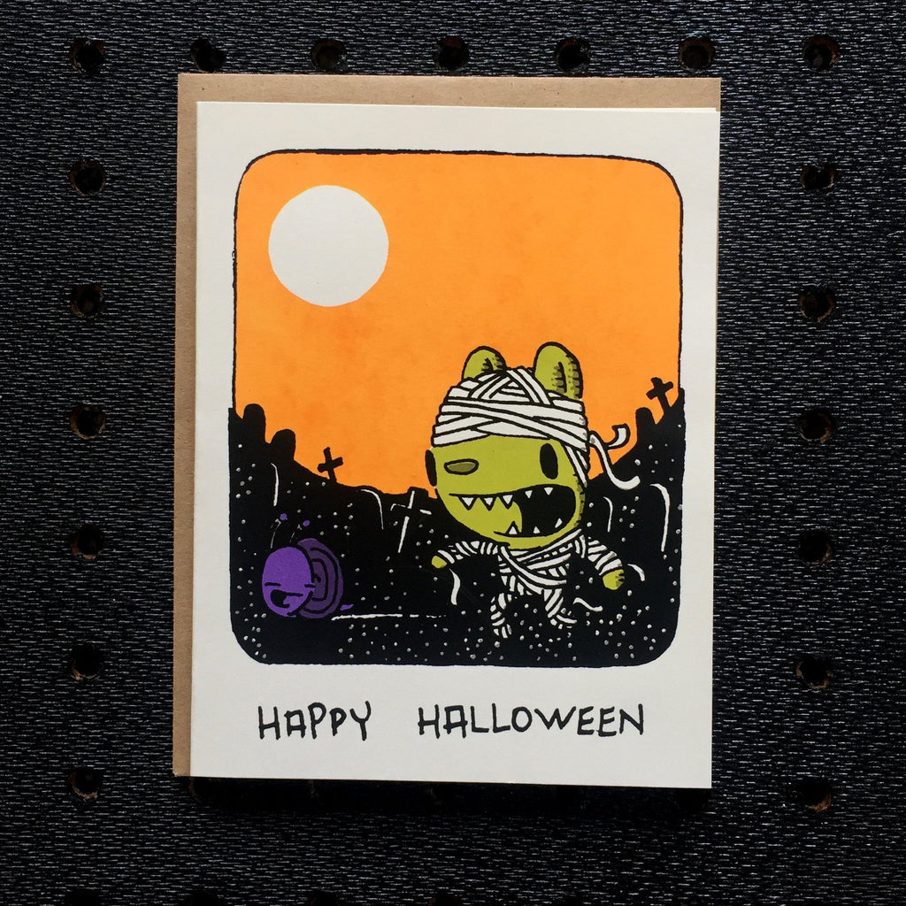 mummy halloween card