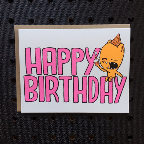 happy birthday - bear - greeting card