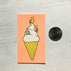 ice cream snails  mini card