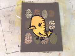 birdie screen print