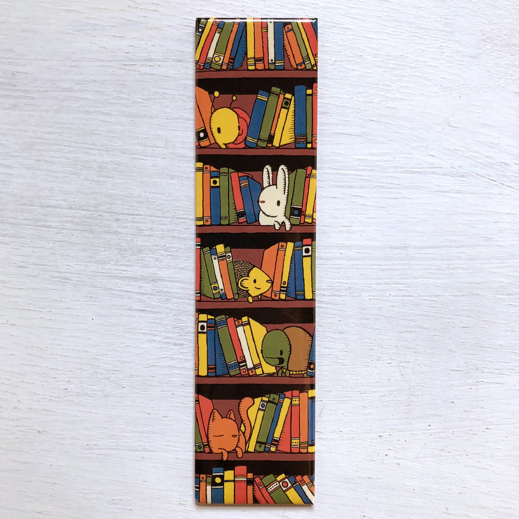 library book shelf magnet