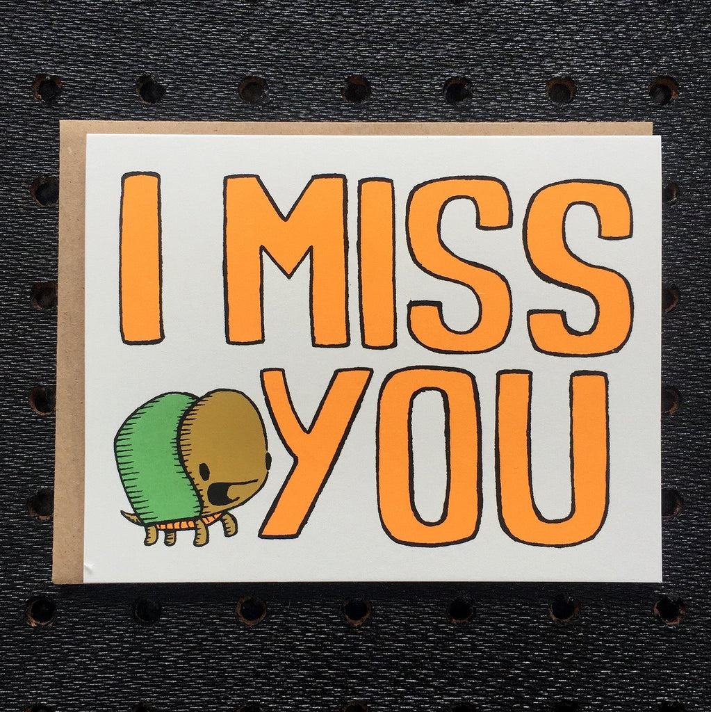 i miss you - turtle - greeting card