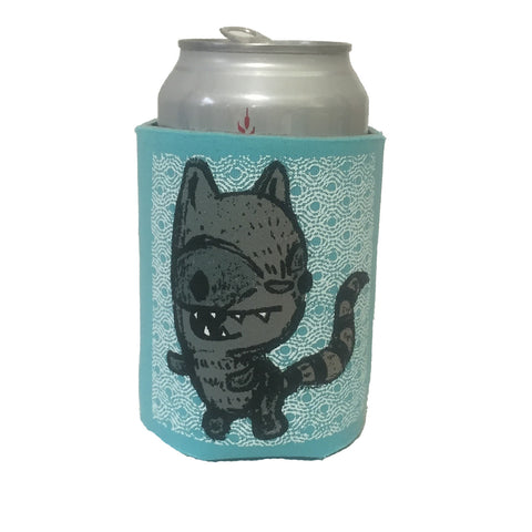 raccoon can coolie (gray/robins egg blue)