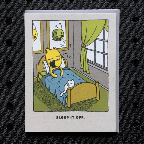 sleep it off card