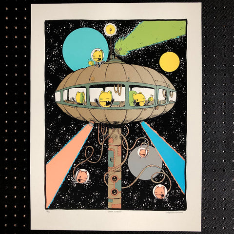 space station screen print (18x24)