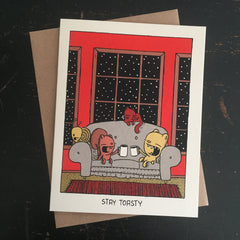 stay toasty holiday card