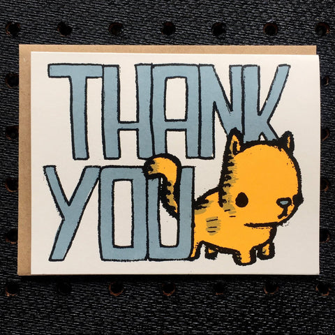thank you kitty greeting card
