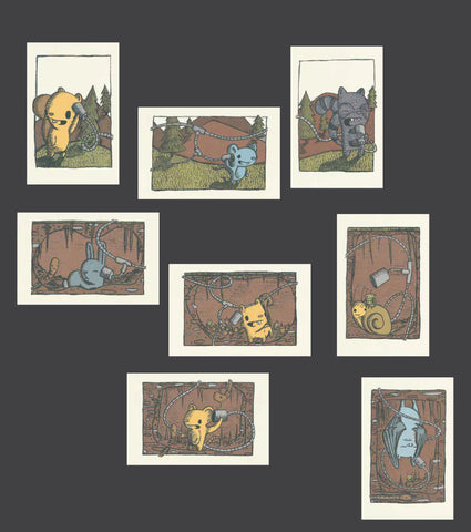 tiny eavesdroppers print series