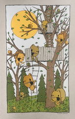 get up here - treehouse screen print