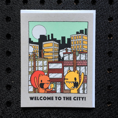 welcome to the city greeting card