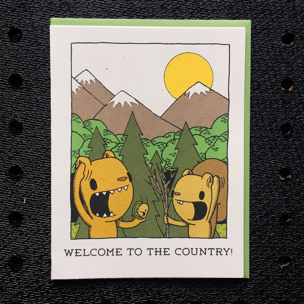 welcome to the country greeting card