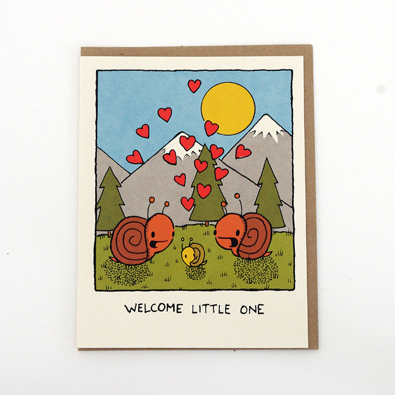 welcome little one - new baby card