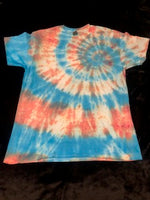 Red and Blue Mixed Spiral