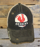 """Cocky"" Distressed Snap Back Trucker Cap"