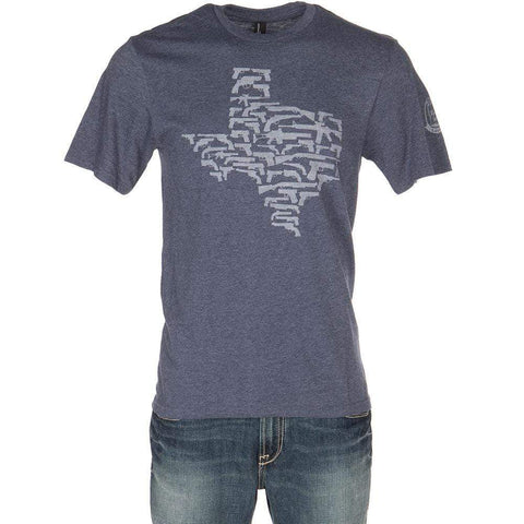 Gun State Texas Graphic T-Shirt - Navy Unisex