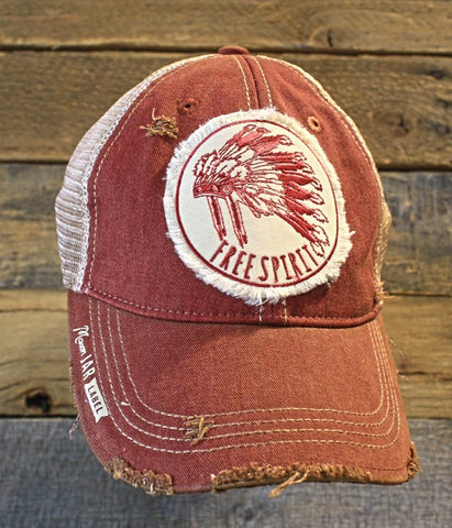 Free Spirit Distressed Snap Back Trucker