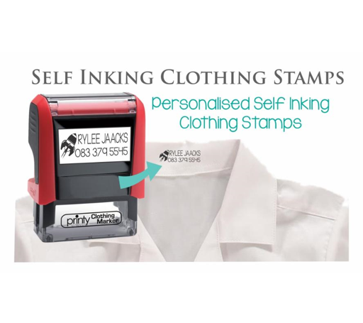 Self-Inking Clothing Stamps