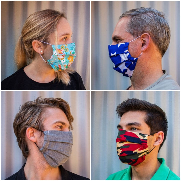 Pleated Fabric Masks for Adults and Teens