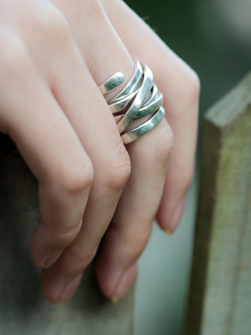 Chunky Sterling Silver Wrap Ring