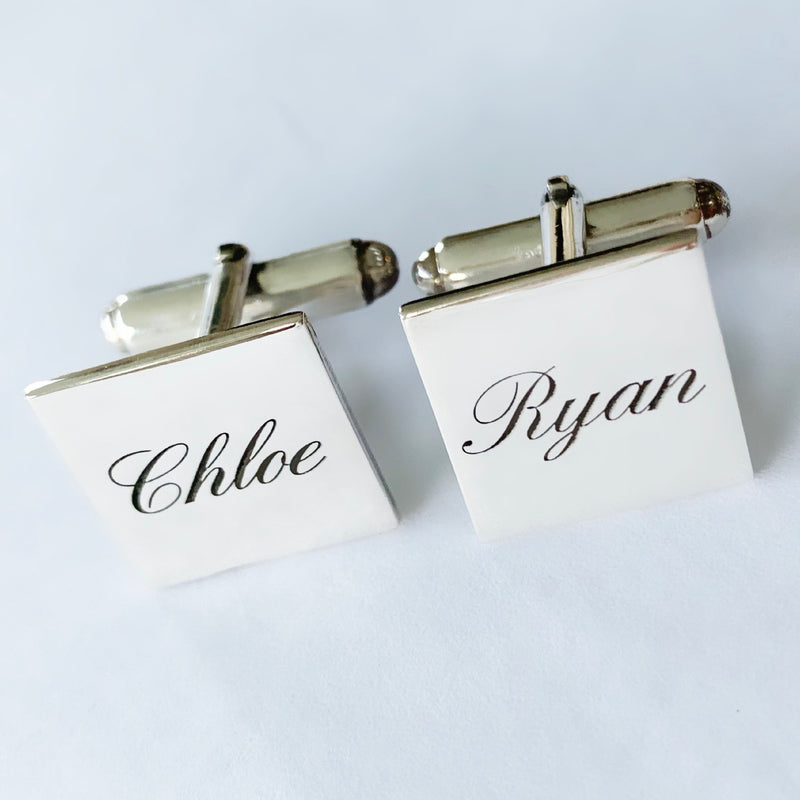 Silver Initial / Name Cufflinks