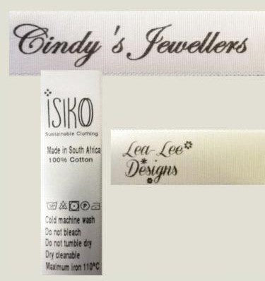 Designer Satin Labels (16mm)