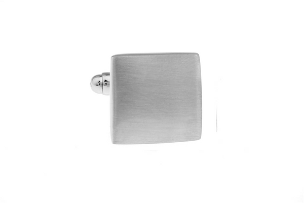 Cuff Links - Elegant Brushed Engraved