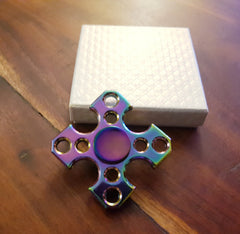 Aluminium - Multi coloured Quad Spinner