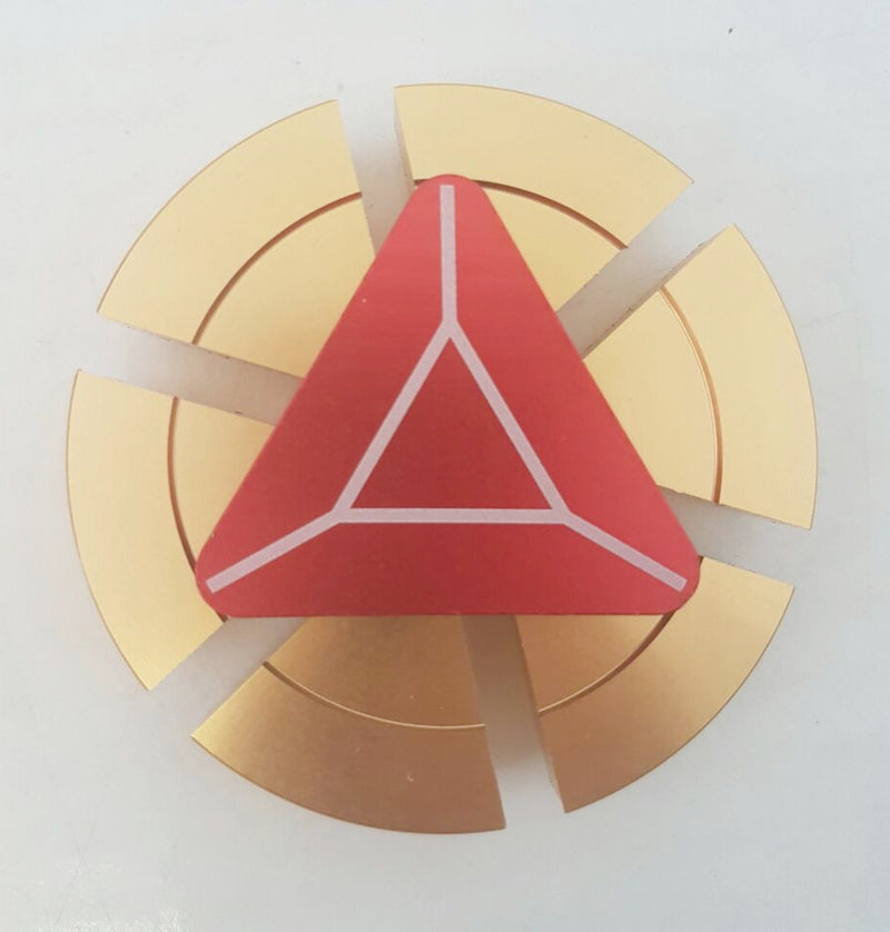 Iron man Metal Spinner - Gold with Red