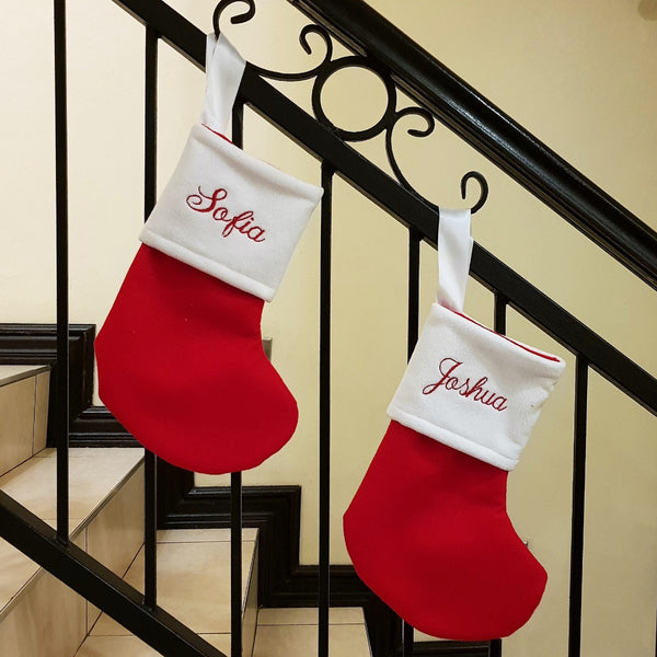 Christmas Stockings - Personalised (just text, no pic)