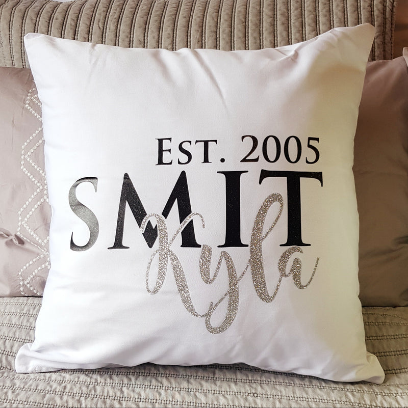 Year of birth Cushion (name and year)