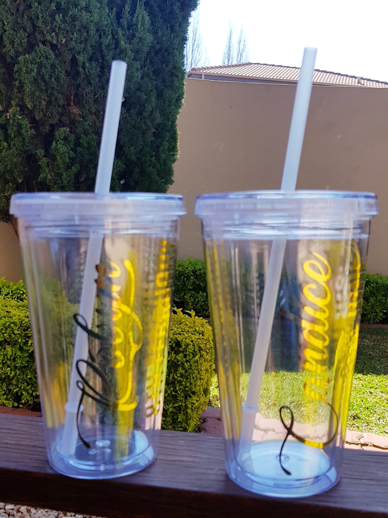 Personalised Tumbler with Straw