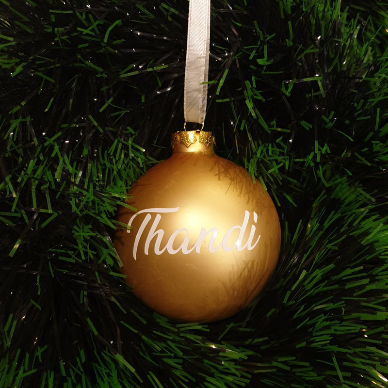 Christmas Bauble - Personalised - Glass (no bow)