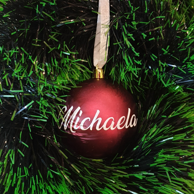 Christmas Bauble - Personalised - PVC (no bow)