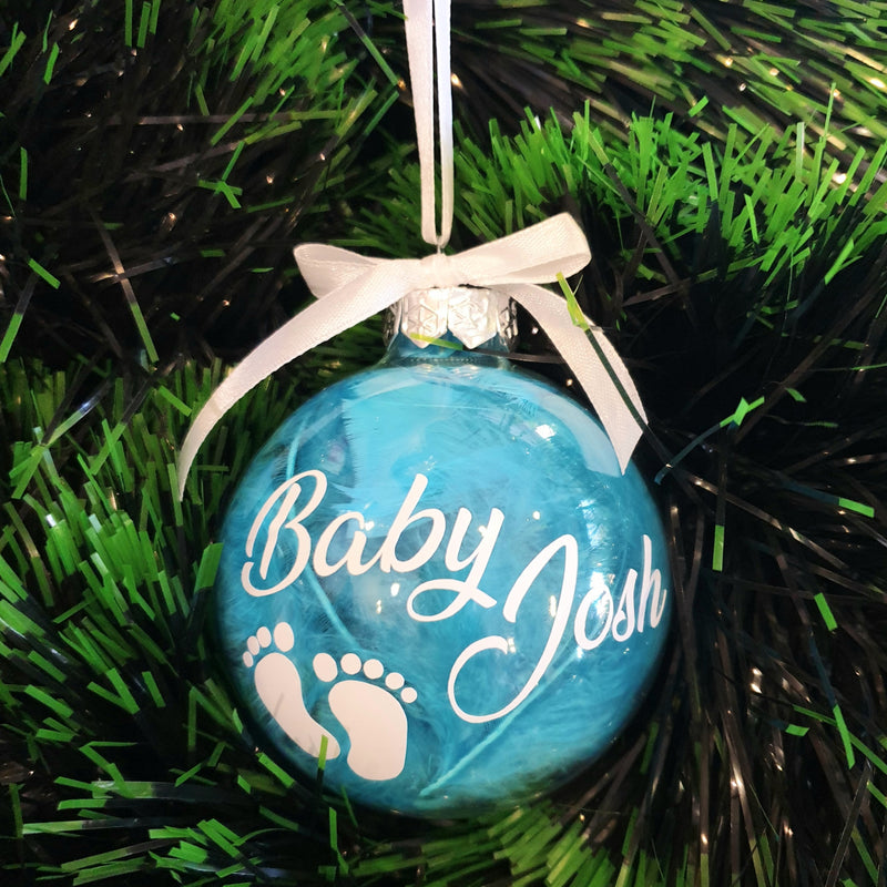Baby Baubles - Personalised (Feathers)