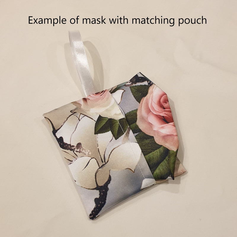 Pleated Fabric mask with pocket for filter (Standard size)