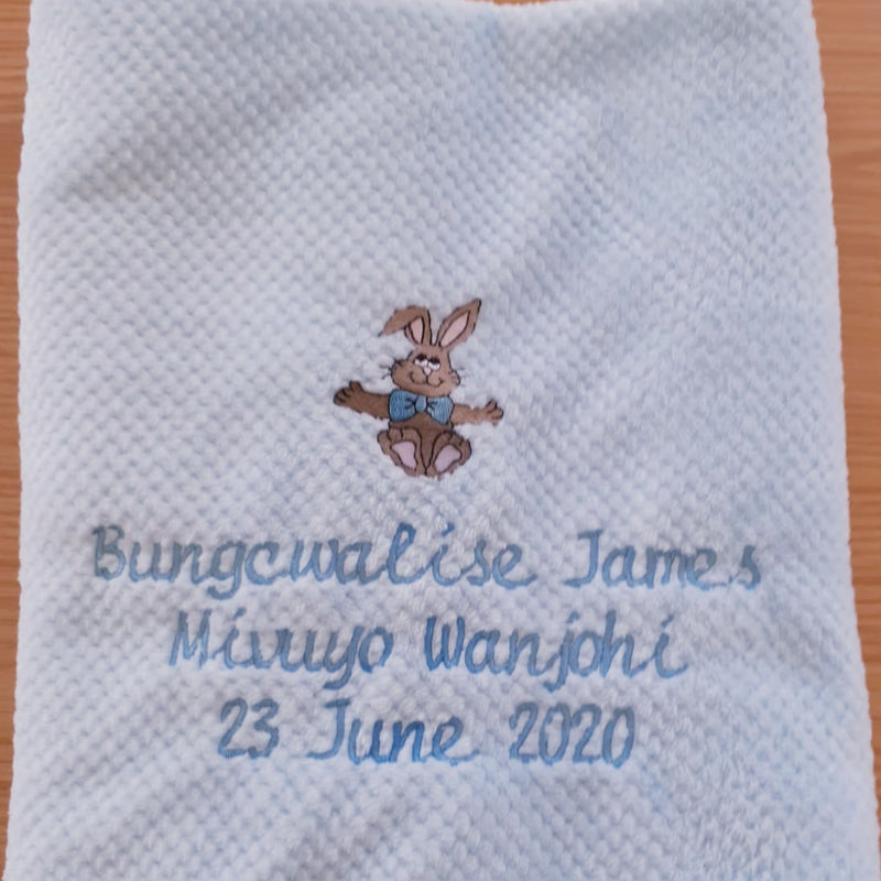 Baby Blanket - Personalised with name, surname and picture